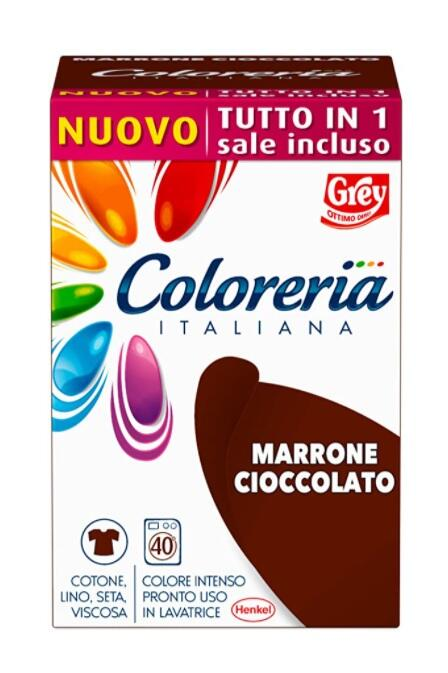 Grey Coloreria Italiana MARRONE CIOCCOLATO NEW con Sale Incluso - 350 gr