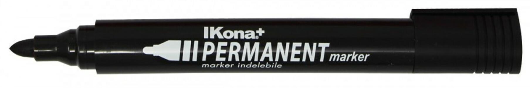 MARKER PERMANENTE NERO P.TONDA IKONA+