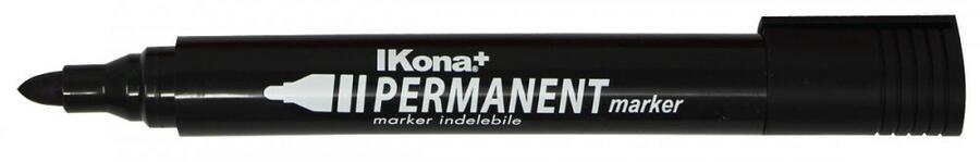 10 MARKER PERMANENTE NERO P.TONDA IKONA+