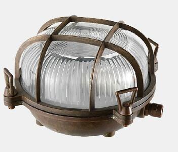 Lampada da Soffitto per Esterno MARINA in Ottone Anticato de Il Fanale, Varie Misure - Offerta di Mondo Luce 24