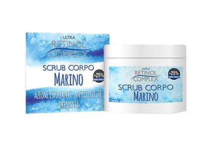 SCRUB CORPO MARINO ANTICELLULITE DRENANTE Con olio di mandorle dolci e olio di jojoba 250 ml RETINOL COMPLEX