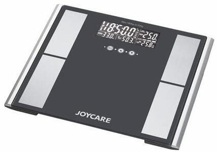 JOYCARE JC-437 Bilancia pesapersone elettronica Nero, Grigio bilance pesapersone