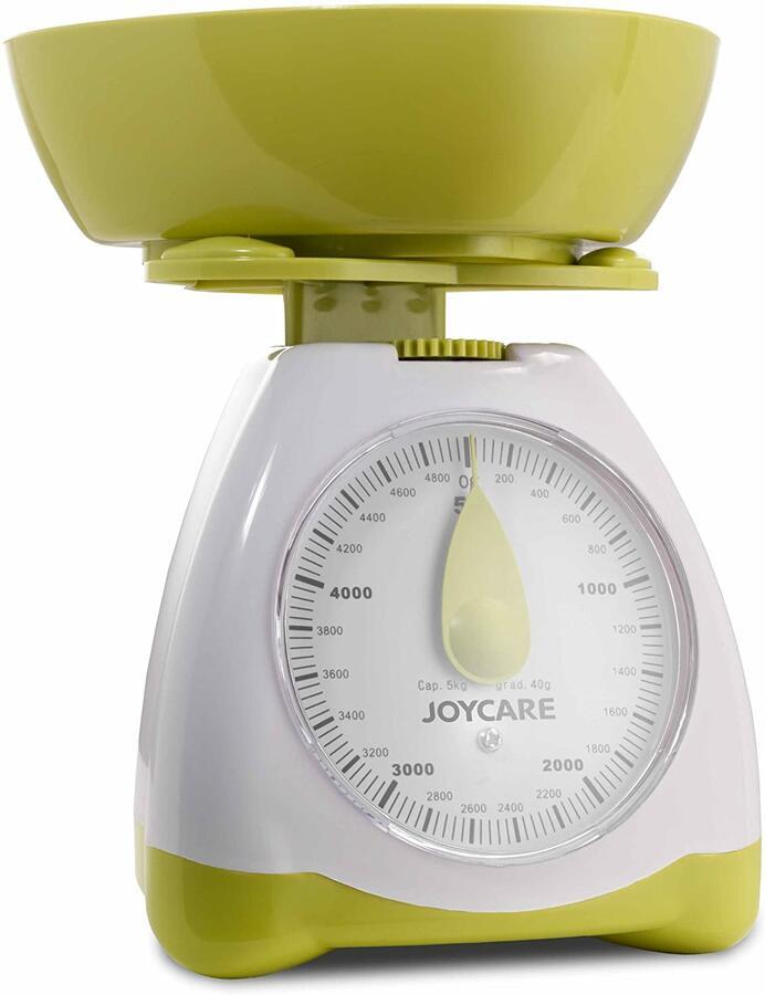 JOYCARE JC492-493 Bilancia per alimenti meccanica 5KG celeste / verde