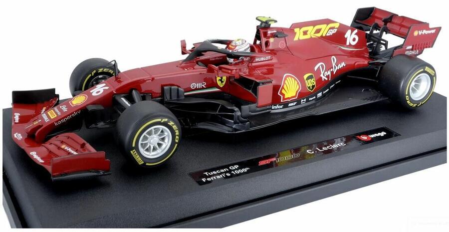 Modello Auto Ferrari SF1000 Mugello 2020 GP Toscana Leclerc Scala 1/18 Rossa Edizione Limitata di Burago