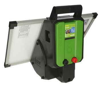 Elettrificatore Solare per recinto elettrico TITAN SOLAR S4200 4,2J completo batteria AGM 18 Ah
