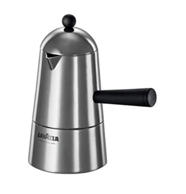 Lavazza Carmencita Caffettiera Alluminio, Moka per Espresso, 1 Tazza