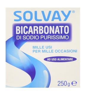 Solvay - Bicarbonato di Sodio, Purissimo, ad uso alimentare - pezzo da 250 g
