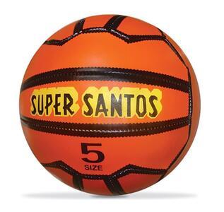 Mondo - Pallone di Cuoio da Calcio, Misura 5, Super Santos Vintage