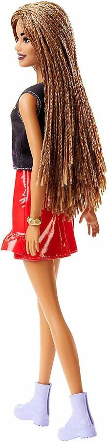 Barbie Fashionista Afroamericana con top fantasia e gonna lucida - Mattel FXL56 - 3+
