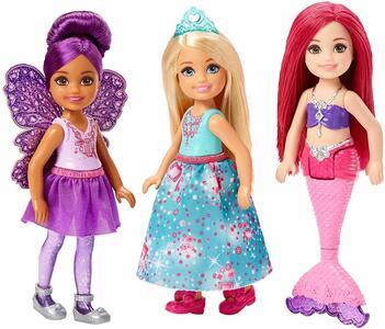 Barbie Dreamtopia Chelsea Sirena, Fatina e Principessa - Mattel FPL86 - 3+
