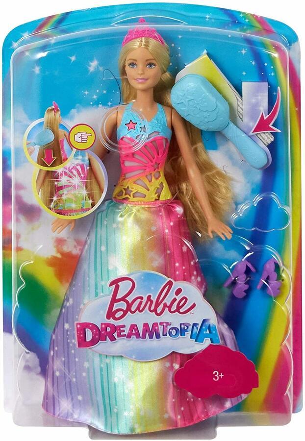 Barbie Dreamtopia Principessa Pettina e Brilla - Mattel FRB12 - 3+