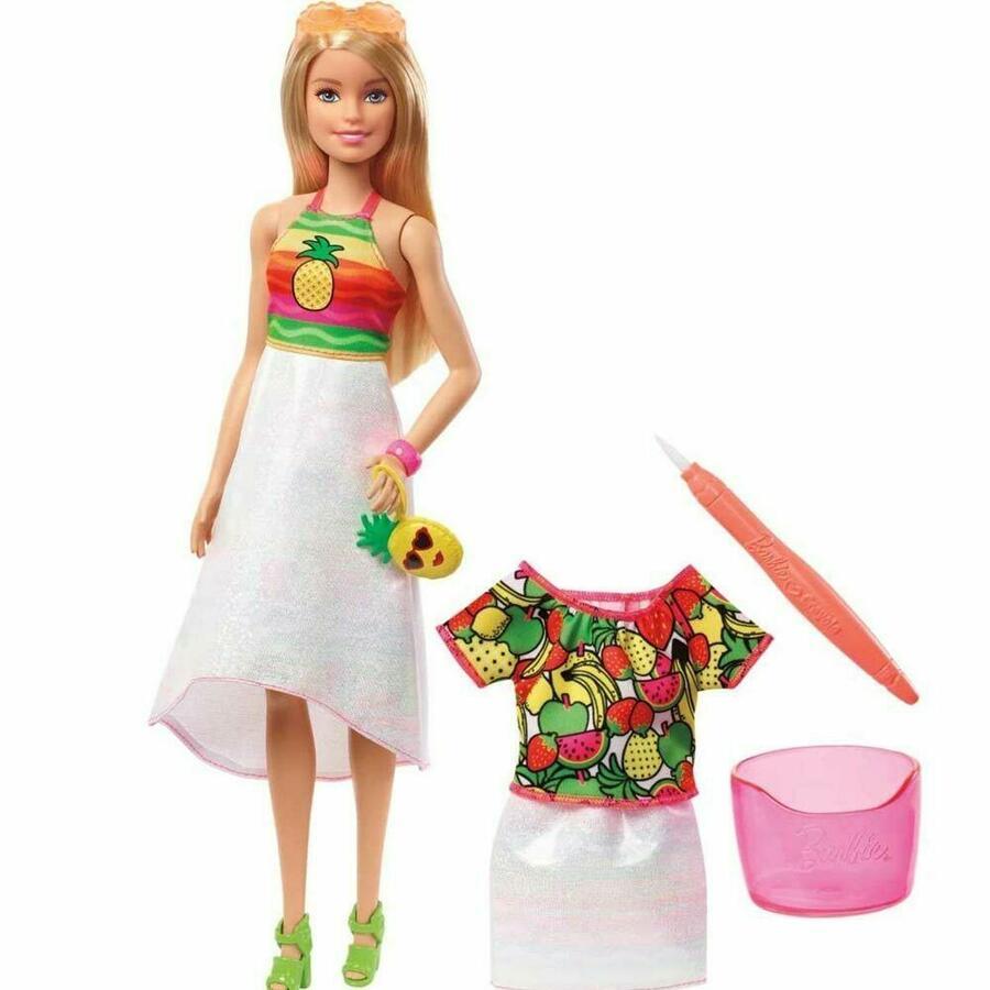 Barbie Crayola Rainbow Fruit Surprise - Mattel GBK18 - 5+