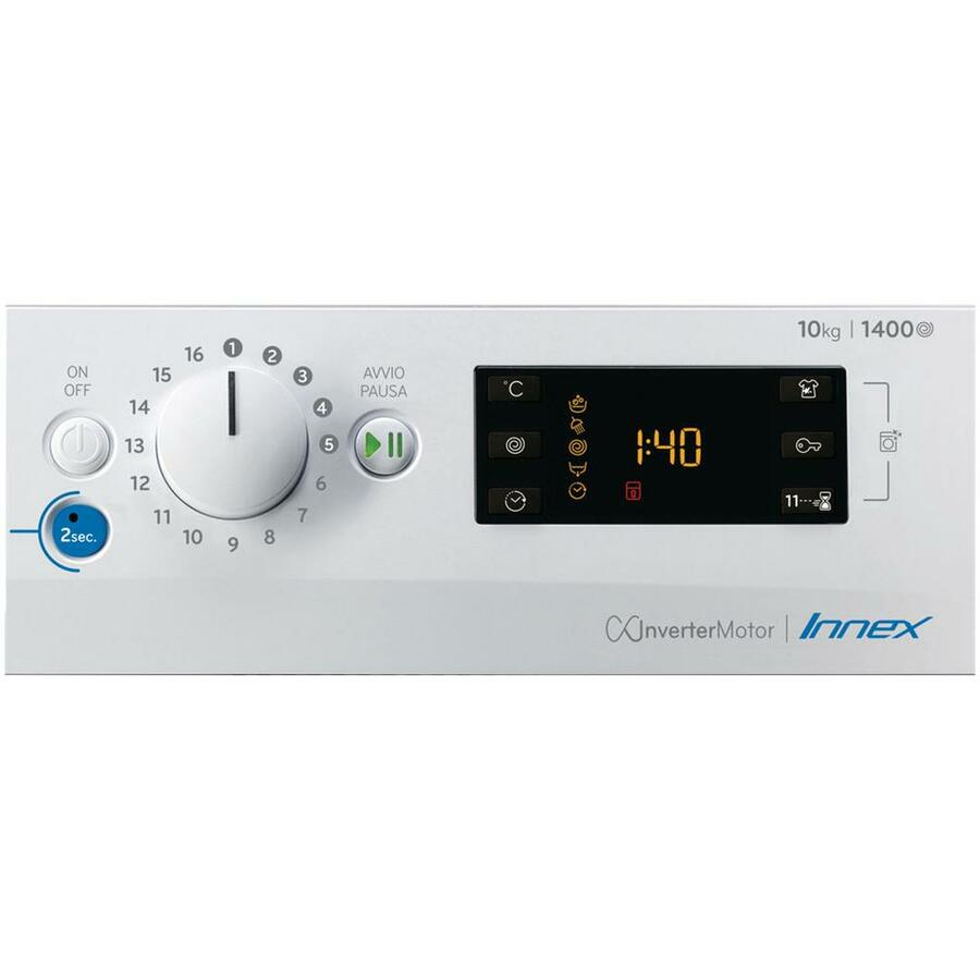 INDESIT Lavatrice Standard BWE 101483X WS IT N 10 Kg Classe D Centrifuga 1400 giri