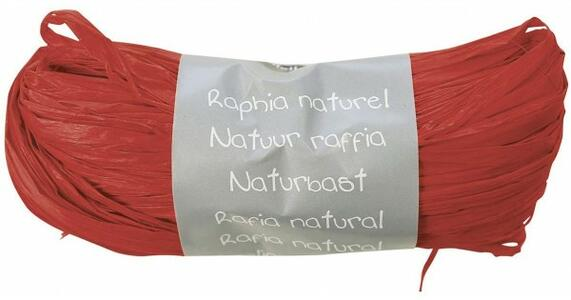 RAFIA NATURALE ROSSA 50 GR