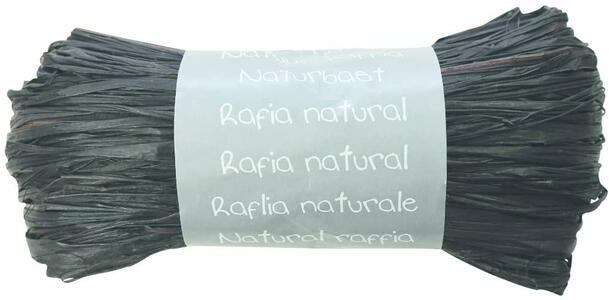RAFIA NATURALE NERA 50 GR