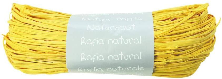 RAFIA NATURALE GIALLA 50 GR