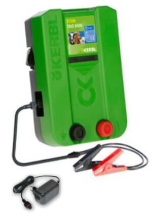 Elettrificatore doppia alimentazione 12/230 Volt TITAN DUO 6500  6,5 Joule