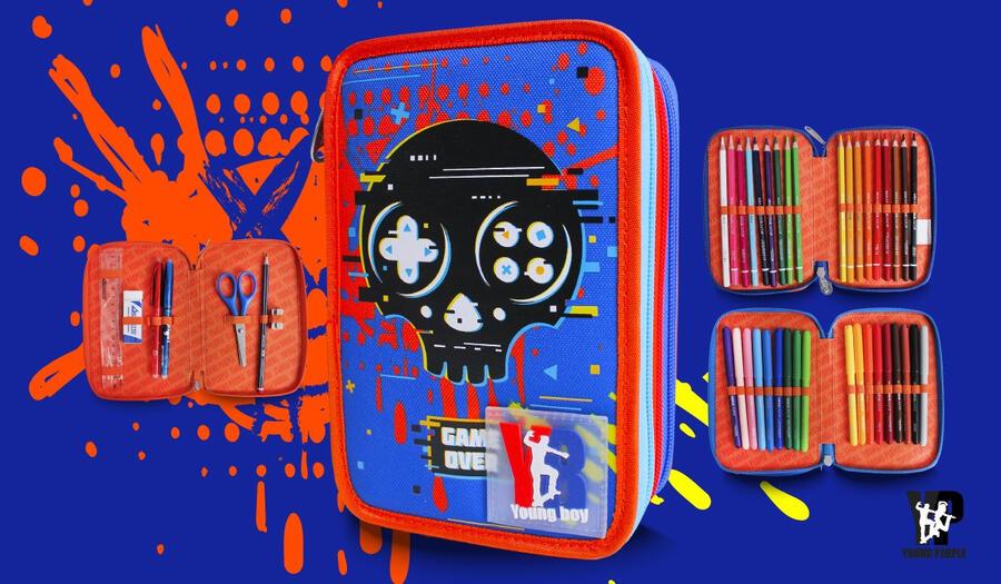 ASTUCCIO PIENO 3 ZIP BLU TESCHIO YOUNG PEOPLE BOY POOL OVER
