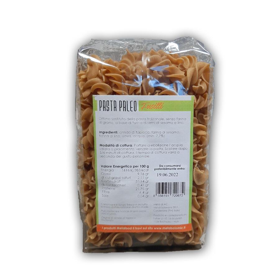Metafood - Pasta Paleo Fusilli a base di semi di sesamo e di lino