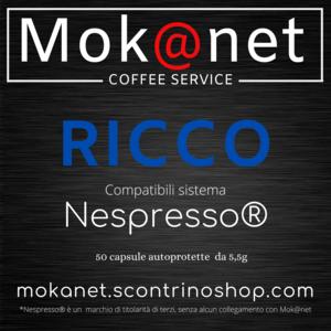 "100 CAPSULE COMPATIBILI Nespresso MOK@NET "" RICCO """