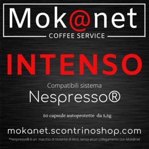 """100 CAPSULE COMPATIBILI Nespresso MOK@NET """" INTENSO """""""