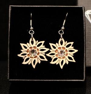 Orecchini stella alpina mini