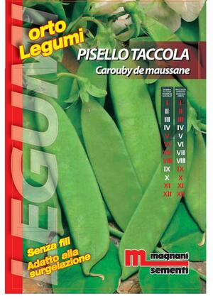 Semi Pisello Taccola Carouby Moussane 200 gr