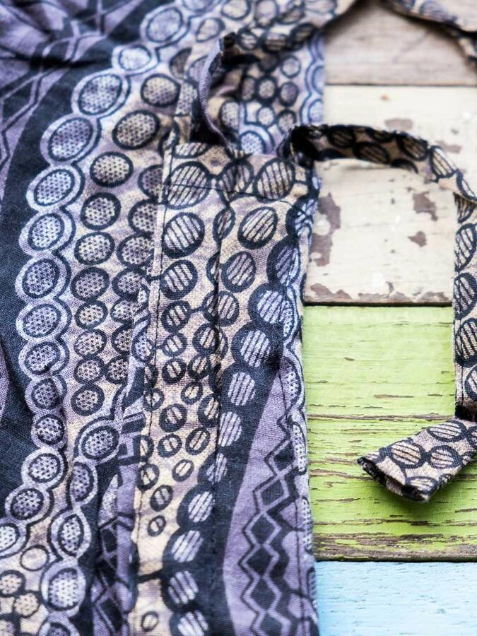 Long woman Jumpsuit Vaishali low crotch – black & gray