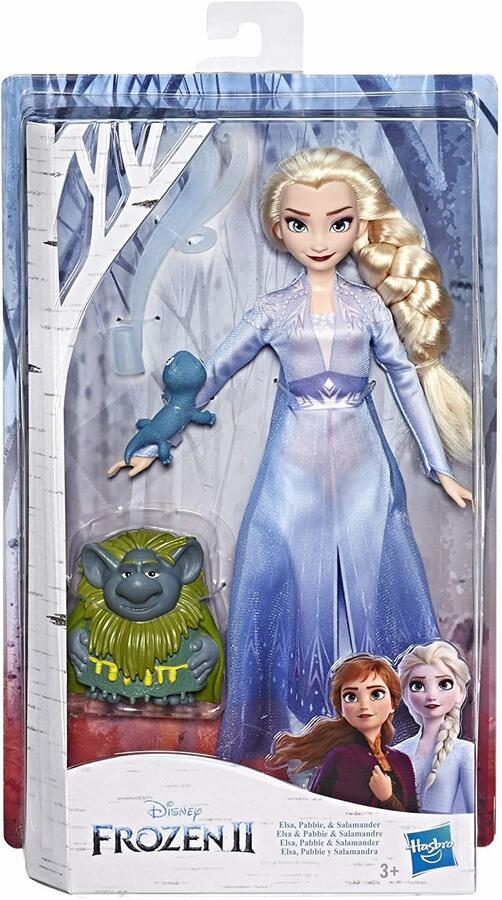 Disney Frozen Elsa con Pabbie e Salamandra - Hasbro E6660 - 3+