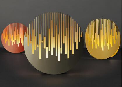 Lampada da Tavolo MANHATTANHENGE Dimmerabile di Cini&Nils, Varie Finiture - Offerta di Mondo Luce 24