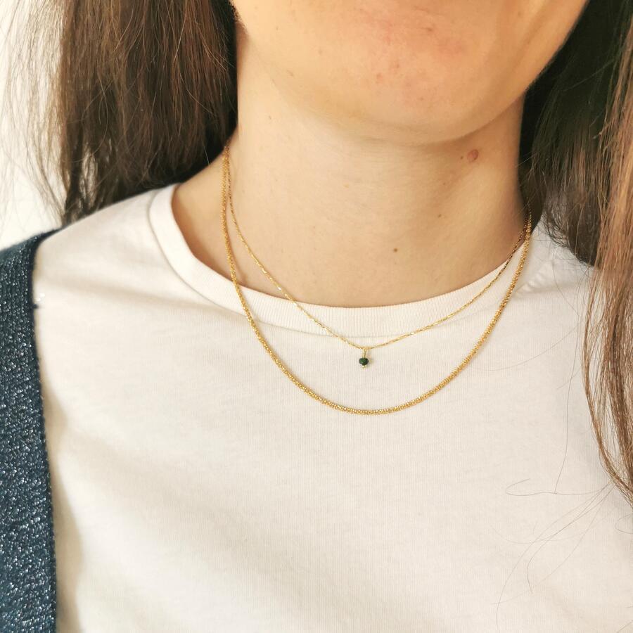 Girocollo diamantato in argento dorato