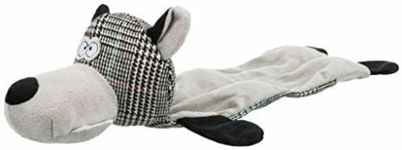 Trixie 36114 Gioco Per Cani Peluche Lupo 38 cm Con Suono Senza Imbottitura