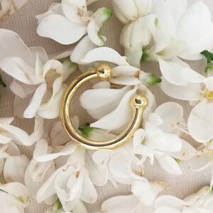Ear cuff semplice in argento dorato