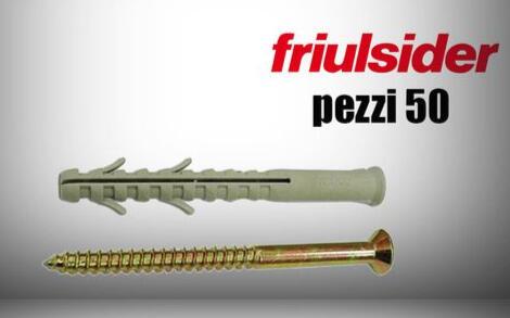 Tasselli Friulsider 2 ali pacco da 50 pz