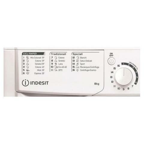 INDESIT Lavatrice Standard EWC 81251 W IT N 8 Kg Classe F Centrifuga 1200 giri