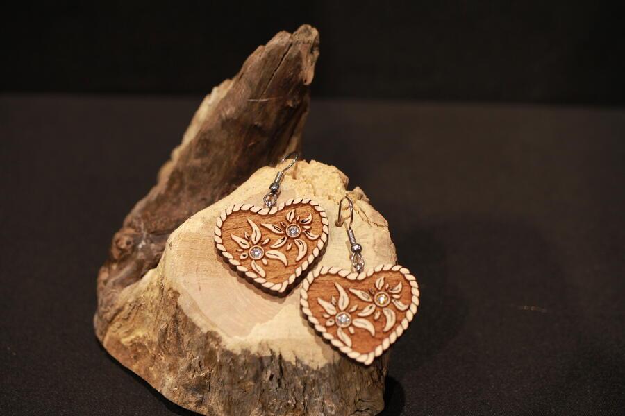 Orecchini cuore tirolese