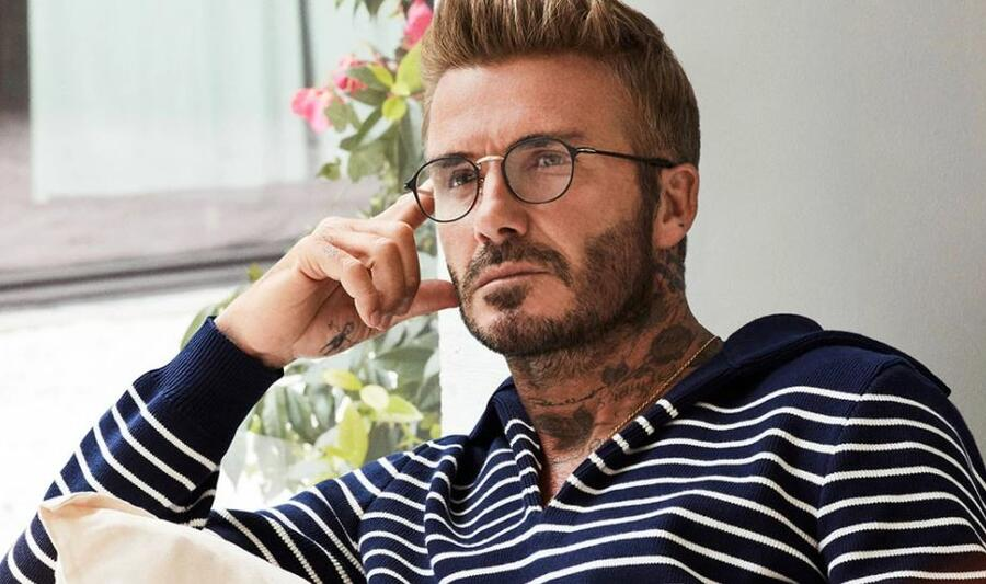 David Beckham DB 7056 - Matt Black Gold