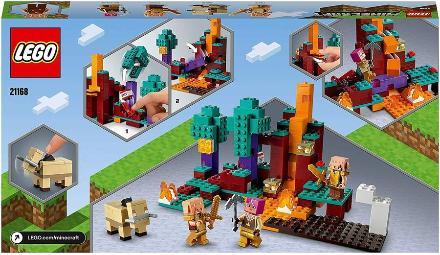 The Warped Forest con Cacciatrice, Pling and Hoglin - Lego Minecraft 21168 - 8+