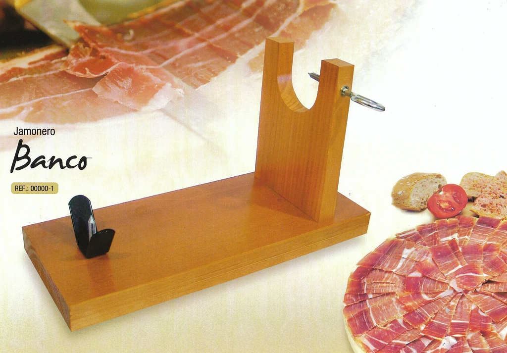 JAMONERA- PORTA PROSCIUTTO + COLTELLO