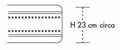 Materasso Memory Mod Stratus da Cm 90x190/195/200 a Zone Differenziate con Scelta del Rivestimento - Ergorelax