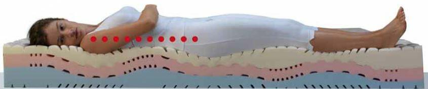 Materasso Memory Mod Stratus da Cm 140x190/195/200 a Zone Differenziate con Scelta del Rivestimento - Ergorelax