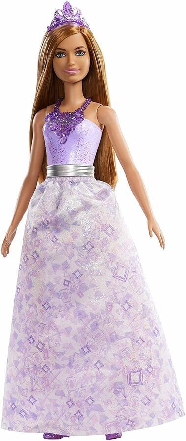 Barbie Dreamtopia Principessa capelli castani e vestito viola - Mattel FXT15 - 3+