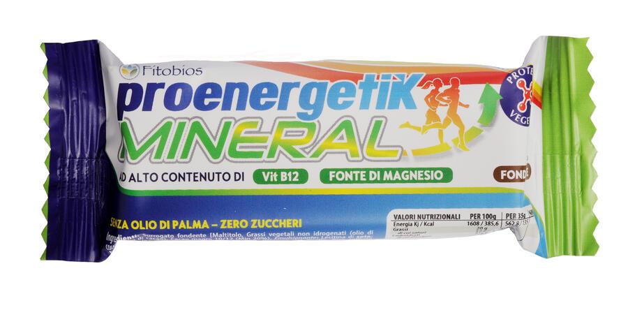PROENERGETIK MINERAL - Barretta funzionale con proteine vegetali, magnesio, potassio e complesso vitamina B - 24 pz gusto cioccolato fondente