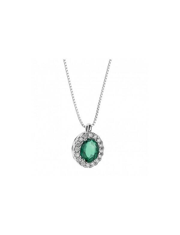 Collana Con Diamanti e Smeraldo Elli's By Nardelli