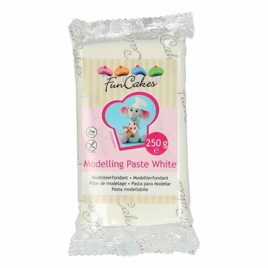 Pasta di modellaggio bianca Funcakes 250 gr