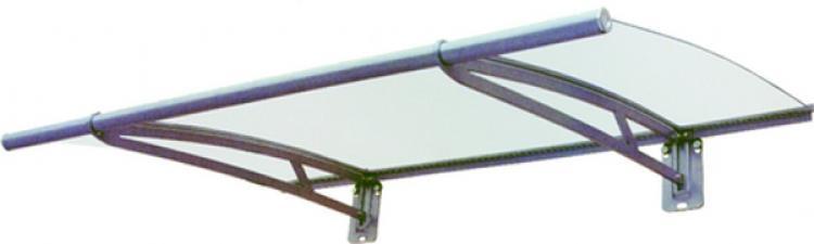 Pensiline con tettoia in policarbonato e struttura in alluminio 150 x 95