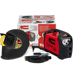 Saldatrice inverter Telwin FORCE 145 con maschera a cristallo Tiger e accessori