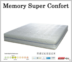 Materasso Memory Mod. Super Confort da Cm. 180x190/195/200  BioActive Sfoderabile Altezza Cm. 22 - Ergorelax