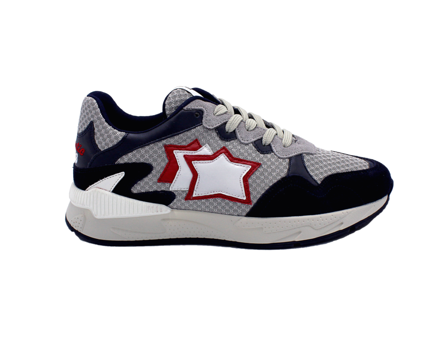 Sneakers Atlantic Stars Scorpius blu e argento in pelle scamosciata bg-I19 abisso