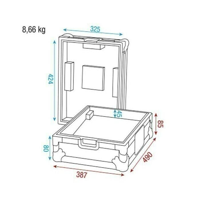 Showgear Case for Pioneer/Technics mixer